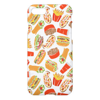 Colorful Pattern Illustration Fast Food iPhone 8/7 Case