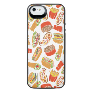Colorful Pattern Illustration Fast Food iPhone SE/5/5s Battery Case