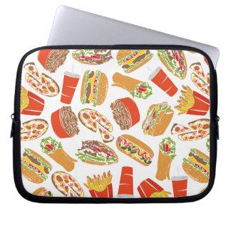 Colorful Pattern Illustration Fast Food Laptop Sleeve