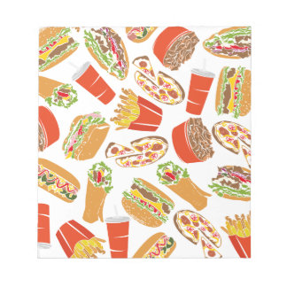 Colorful Pattern Illustration Fast Food Notepad