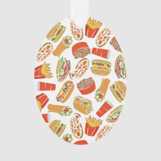 Colorful Pattern Illustration Fast Food Ornament