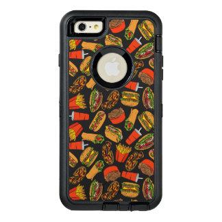 Colorful Pattern Illustration Fast Food OtterBox Defender iPhone Case