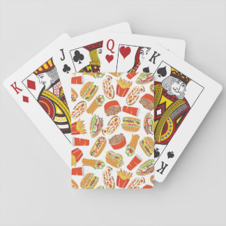 Colorful Pattern Illustration Fast Food Playing Cards