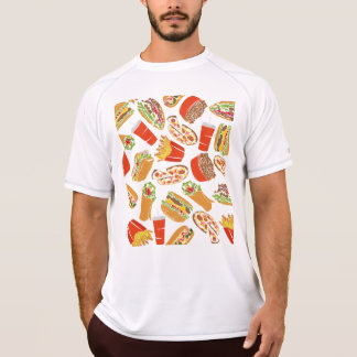 Colorful Pattern Illustration Fast Food T-Shirt