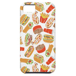 Colorful Pattern Illustration Fast Food Tough iPhone 5 Case