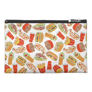 Colorful Pattern Illustration Fast Food Travel Accessory Bag