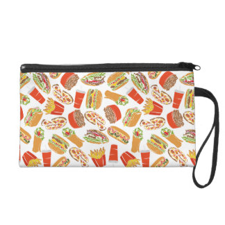 Colorful Pattern Illustration Fast Food Wristlet