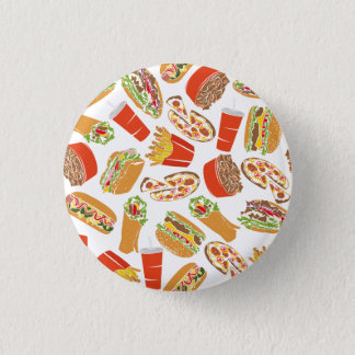 Colorful Pattern illustration nearly Food 3 Cm Round Badge