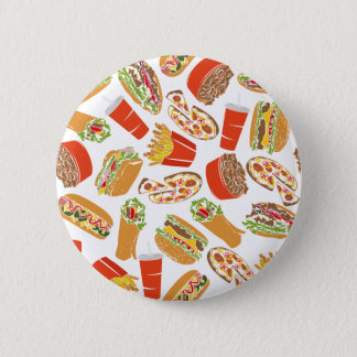 Colorful Pattern illustration nearly Food 6 Cm Round Badge