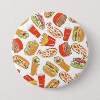 Colorful Pattern illustration nearly Food 7.5 Cm Round Badge