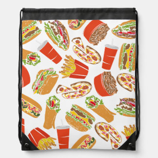 Colorful Pattern illustration nearly Food Drawstring Bag