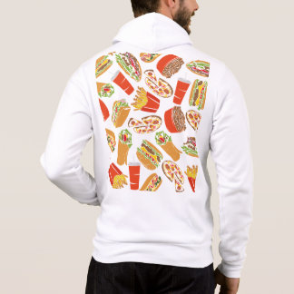 Colorful Pattern illustration nearly Food Hoodie