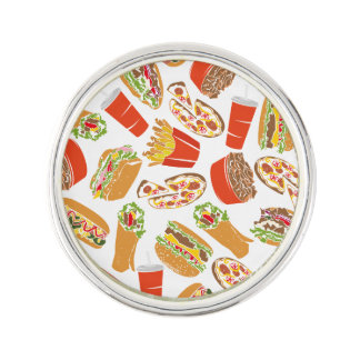 Colorful Pattern illustration nearly Food Lapel Pin