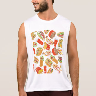 Colorful Pattern illustration nearly Food Singlet