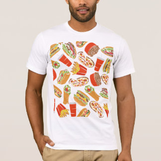 Colorful Pattern illustration nearly Food T-Shirt