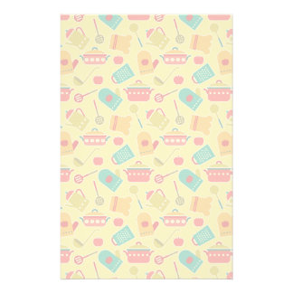 Colorful pattern of kitchen utensils customised stationery