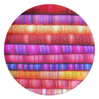 Colorful pattern plate