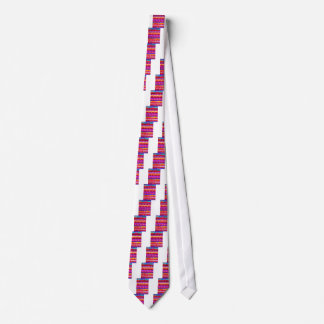 Colorful pattern tie