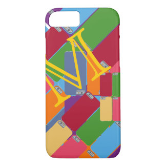 colorful pattern with initial iPhone 7 case