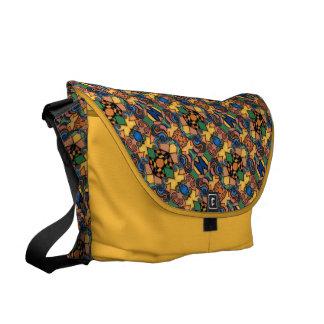 Colorful Pattern Yellow Messenger Bag
