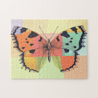 Colorful Patterned Butterfly Jigsaw Puzzle