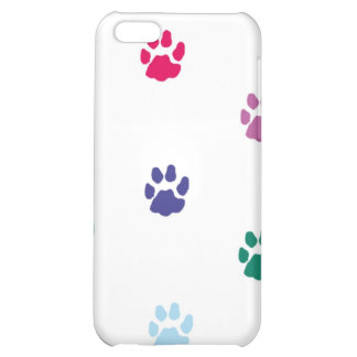 Colorful Paw Print iPhone Case Case For iPhone 5C
