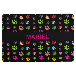Colorful Paw Prints Design Floor Mat