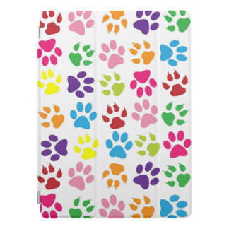 Colorful Paw Prints iPad Pro Cover