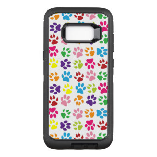 Colorful Paw Prints OtterBox Defender Samsung Galaxy S8+ Case
