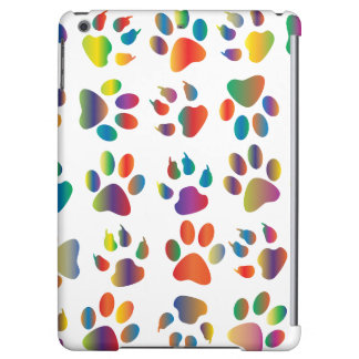 Colorful Paw Prints Pattern