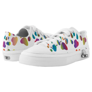 Colorful Paw Prints Pattern Printed Shoes
