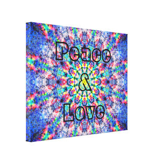 Colorful Peace And Love Canvas Print
