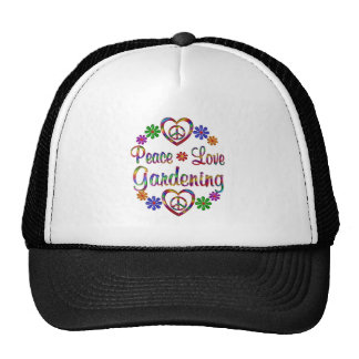 Colorful Peace Love Gardening Hats