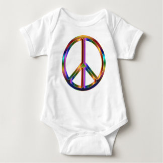 Colorful Peace Sign Baby Bodysuit