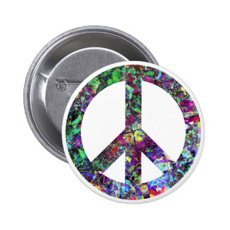 Colorful Peace Sign Buttons