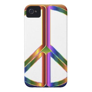 Colorful Peace Sign iPhone 4 Case-Mate Cases
