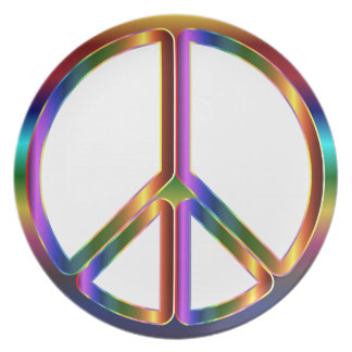 Colorful Peace Sign Plate