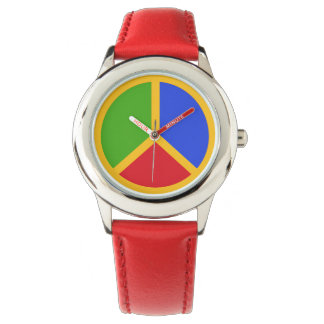 Colorful Peace Sign watches