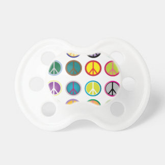 Colorful Peace Signs - Peace Sign pattern Baby Pacifiers