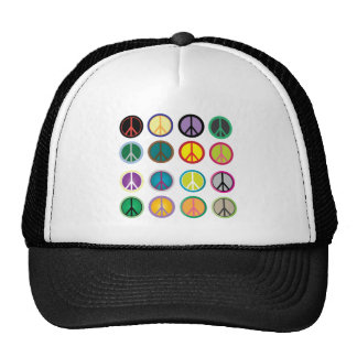 Colorful Peace Signs - Peace Sign pattern Cap