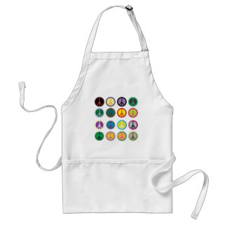 Colorful Peace Signs - Peace Sign pattern Standard Apron