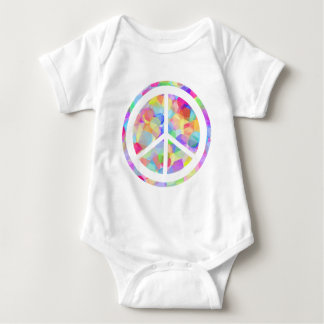 Colorful Peace Symbol Baby Bodysuit