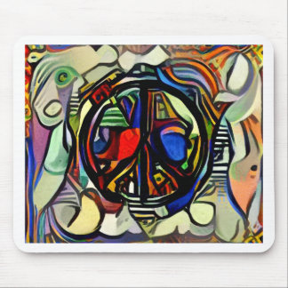 Colorful peace symbol mouse pad