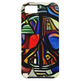 Colorful peace symbol tough iPhone 5 case