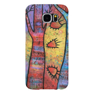 Colorful Peace Tree Whimsical Art Samsung Galaxy S6 Cases