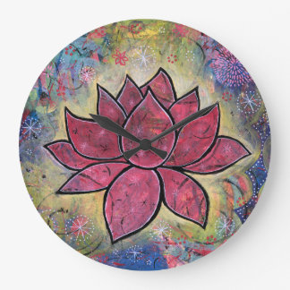 Colorful, Peaceful Lotus Clock