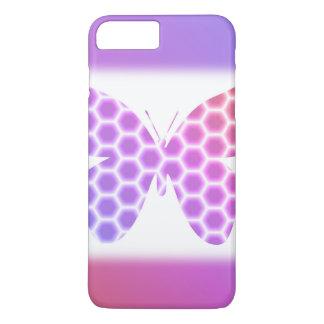 Colorful Peach Pink Purple Geometric Butterfly Art iPhone 7 Plus Case