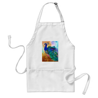 Colorful Peacock Alcohol Ink Apron