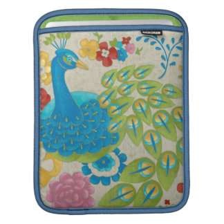 Colorful Peacock and Flowers iPad Sleeves