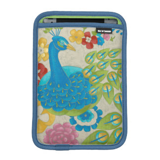Colorful Peacock and Flowers Sleeve For iPad Mini